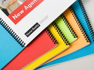 Here is a sample of some spiral bound documents. As you can see, they come in a lovely variety of colors.