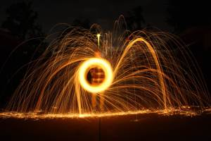 My son's steel wool photography.